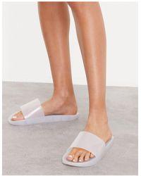 South Beach Jelly Slides - White