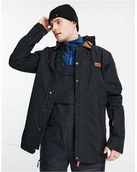 Planks Throw-down Collared Ski Jacket - Black