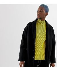 Collusion - Overcoat In Black - Lyst