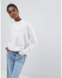Vila - V Neck Sweater - Lyst