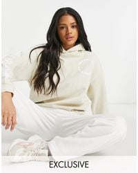 New Girl Order Exclusive Sunshine All The Time Oversized Beach Hoodie - White
