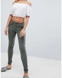 Urban Bliss Jean skinny avec poche orne de clous - Vert