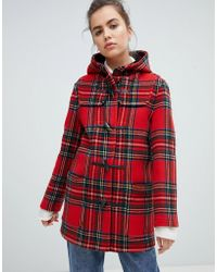 Gloverall - Mid Length Duffle Coat In Check - Lyst