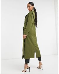 UNIQUE21 Tailored Trench Coat - Green