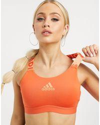 adidas Originals - Оранжевый Бюстгальтер Adidas Training-красный - Lyst