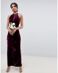 Ghost - Bridesmaid Maxi Dress With Keyhole Detail - Lyst