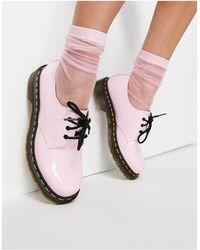 Dr. Martens Розовые Лакированные Туфли 1461-розовый Цвет