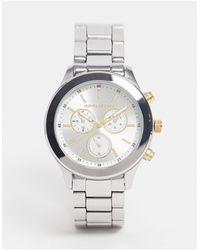ASOS Bracelet Watch With Gold Highlights - Metallic