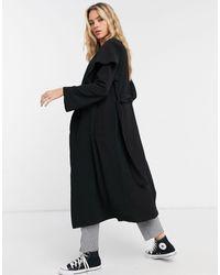 ASOS Soft Waterfall Duster Coat - Black