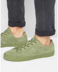 Converse - Star Player Trainers In Green 155403c - Lyst