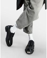 ASOS Черные Туфли На Шнуровке Из Искусственной Кожи С Фактурной Подошвой - Черный