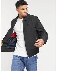 Tommy Hilfiger Черная Куртка Харрингтон Из Переработанного Хлопка С Логотипом Ivy-черный Цвет