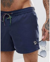 PS by Paul Smith - Swim Shorts In Navy - Lyst