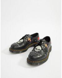 Dr. Martens - 1461 3-eye Stud Shoes In Black - Lyst