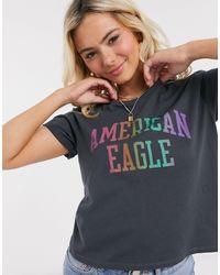 American Eagle - Черная Футболка -черный - Lyst