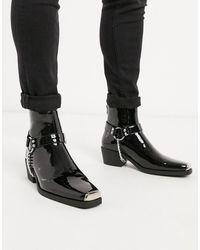 ASOS - Cuban Heel Western Chelsea Boots - Lyst