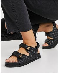 Public Desire Carmen Chunky Grandad Sandals - Black