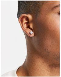 TOPMAN Crystal Stud Earrings - Metallic