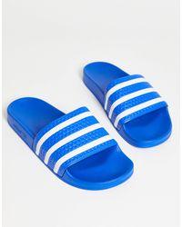 adidas Originals - Голубые Шлепанцы Adilette-голубой - Lyst