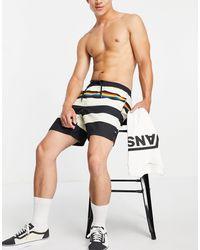 Vans Rainbow Stripe Volley Swim Shorts - Multicolour