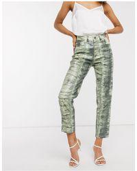 ASOS Ritson - Mom jeans original lucertola - Verde