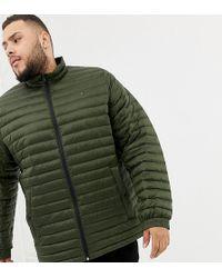 09d77b74 Tommy Hilfiger - Big & Tall Lightweight Down Packable Puffer Jacket Flag  Logo In Green -