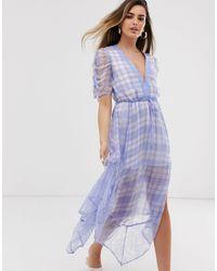 RahiCali Rahi Checkmate Bella Dress - Blue