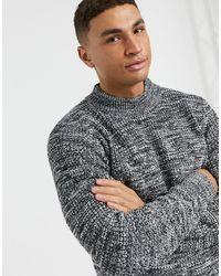 River Island Waffle Knit Jumper - Black