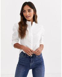 Glamorous Structured Shirt In Cotton - White
