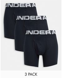 Under Armour Charged Cotton 3 Pack Trunks - Black