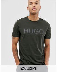HUGO Футболка Цвета Хаки С Логотипом Dolive-зеленый - Многоцветный