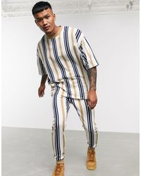 ASOS Co-ord - T-shirt lunga oversize - Blu