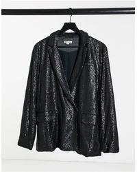 Whistles Blazer oversize - Sequin noir