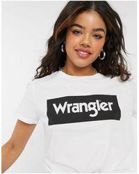 Wrangler Relaxed T-shirt With Chest Logo - White