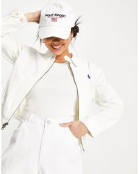 Polo Ralph Lauren - Кремовая Ветровка С Логотипом -белый - Lyst