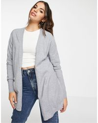 ASOS Fine Knit Cardigan - Grey