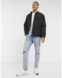 New Look - – Hemdjacke aus Papertouch-Material - Lyst
