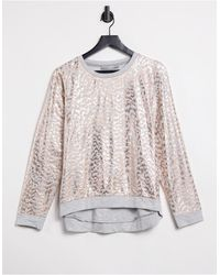 Oasis Textured Animal Foil Sweatshirt - Multicolour
