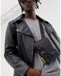 DIESEL Logo Flight Bag In Black