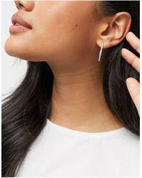 Pilgrim Boucles d'oreilles pendantes à strass plaquées argent - Métallisé