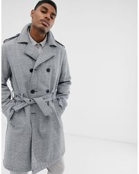 ASOS Double Breasted Trench Coat - Black