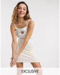 Santa Cruz Vestito con cuore crema - Multicolore
