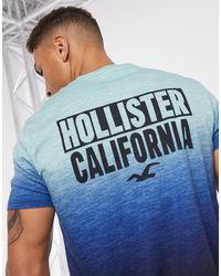Hollister Ombre Print Logo T-shirt - Blue