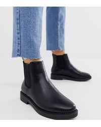 ASOS Chelsea Boots Met Dikke Zool En Brede Pasvorm - Zwart