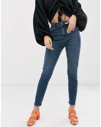 Sass & Bide Pantalon skinny effiloché à taille haute - Bleu