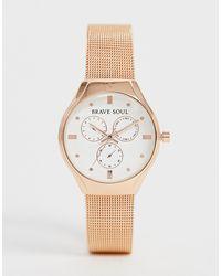 Brave Soul Женские Часы С Хронографом -розовый - Многоцветный