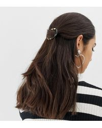 South Beach Mixed Tortoiseshell Resin Hair Clip - Brown