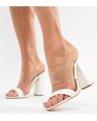 Truffle Collection - Block Heel Mule Sandals - Lyst