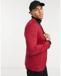 ASOS Super Skinny Jersey Blazer - Red
