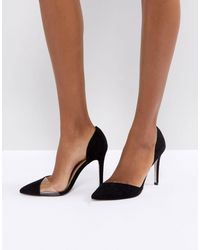 Miss Kg Two Part Detail Point High Heels - Black
